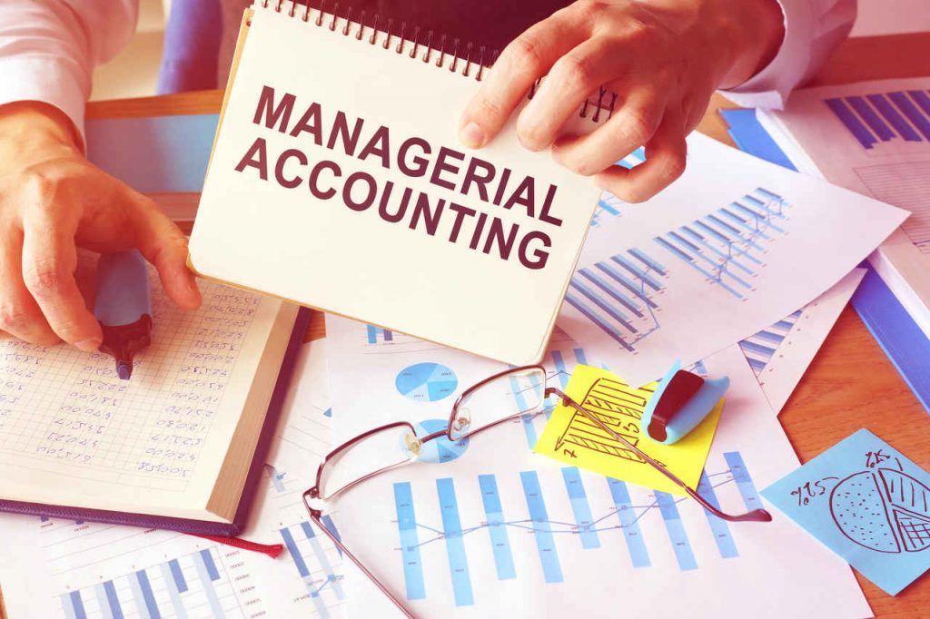 managerial accounting stock image