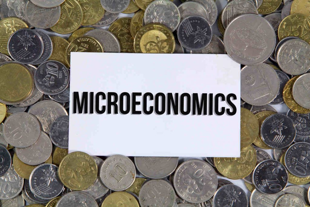 microeconomics stock image