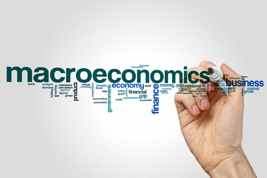 macroeconomics stock image